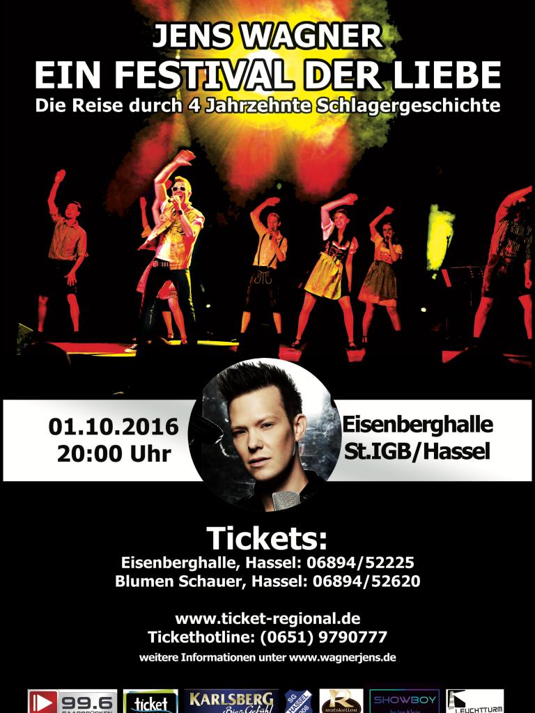 Konzertplakat Jens Wagner